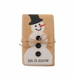 MudPie Snowman Funny Soap w/Trim