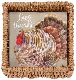 MudPie MudPie, Turkey Paper Napkins in Basket