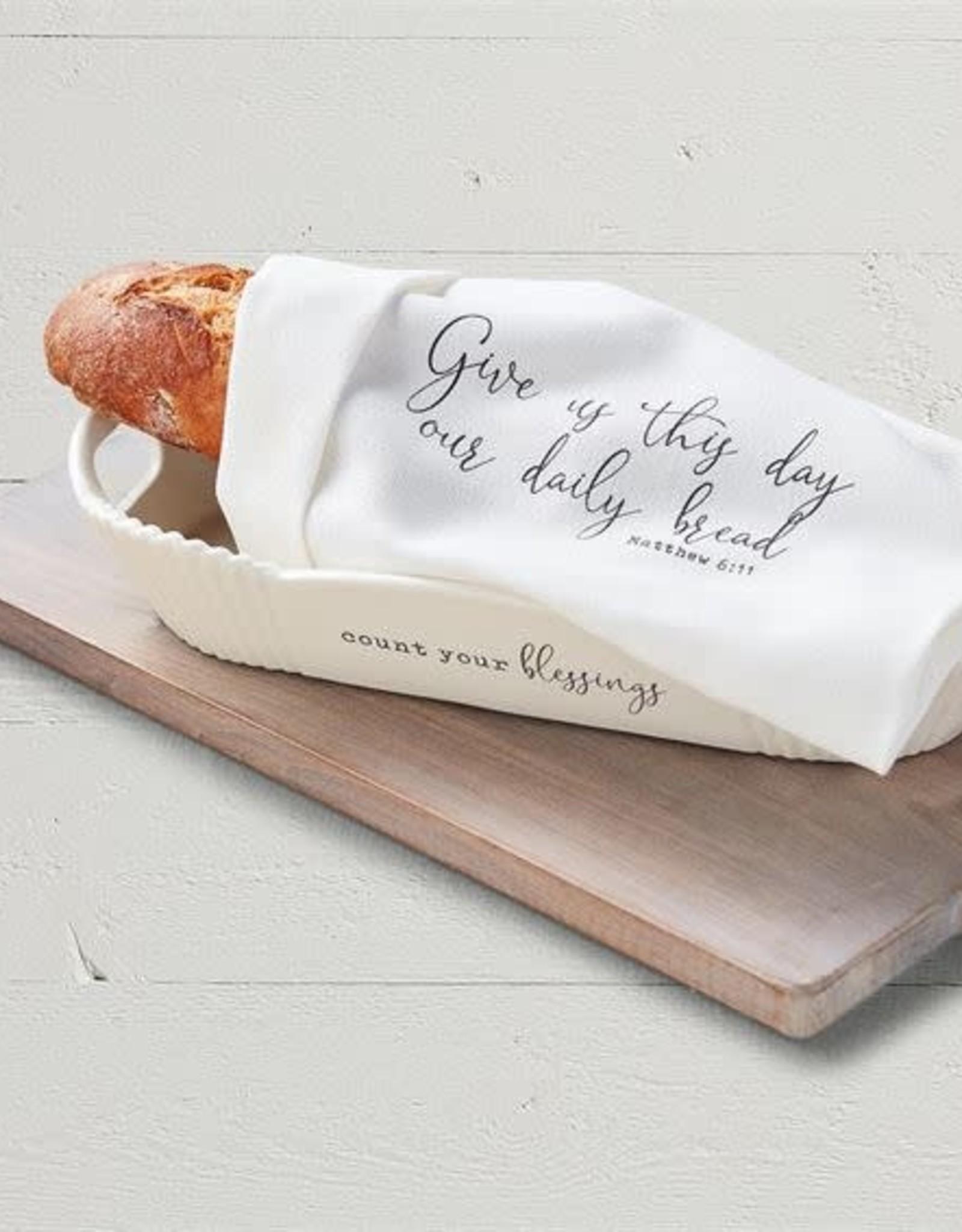 MudPie Blessings Bread Bowl & Towel Set