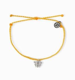 PuraVida PuraVida, Bee Bracelet Silver, Dark Yellow