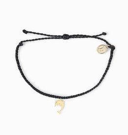 PuraVida PuraVida, Dolphin Bracelet Gold, Black
