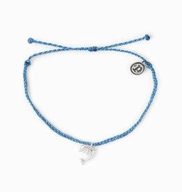 PuraVida PuraVida, Dolphin Bracelet Silver, Marine Blue