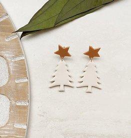 The Barn Table White Christmas Trees FINAL SALE