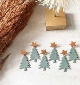The Barn Table Green Christmas Trees