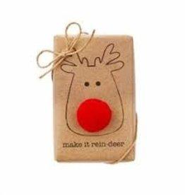 MudPie Reindeer Funny Soap w/Trim