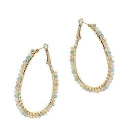 What's Hot Serendipity Earrings, Light Multi Colored Crystal Hoop