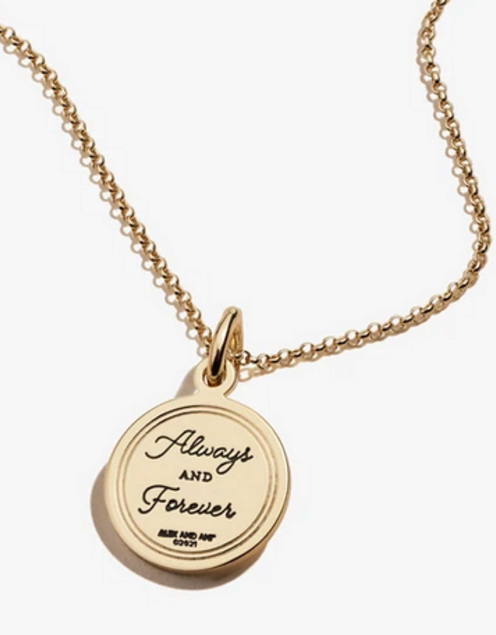 Alex and Ani Love 'Always And Forever' 22in Necklace, Shiny Gold