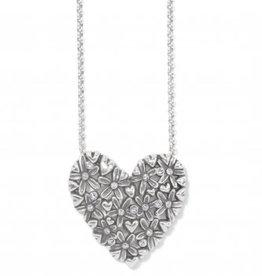 Brighton Wild Flowers Heart Necklace