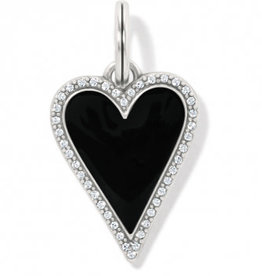 Brighton Midnight Heart Amulet, Black