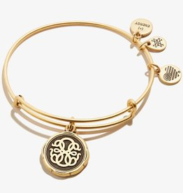 Alex and Ani Path of Life Embossed Charm Bangle, Gold