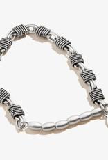 Alex and Ani Basket Coil Stretch Bracelet, Silver