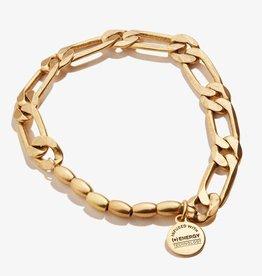Alex and Ani Textured Links Stretch Bracelet, Gold