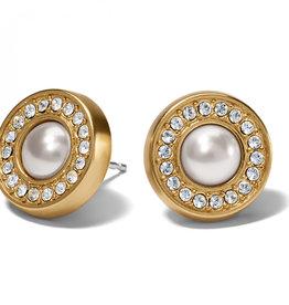 Brighton Brighton, Meridian Pearl Post Earrings Gold-Pearl