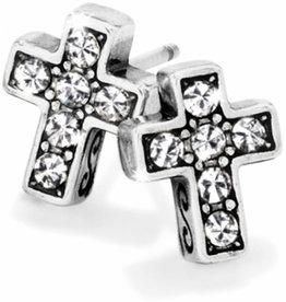Brighton Brighton, Starry Night Cross Mini Post Earrings
