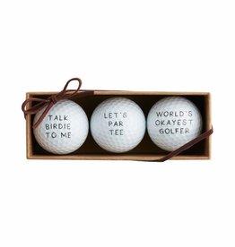 MudPie MudPie, Lets Par Tee Golf Ball Set