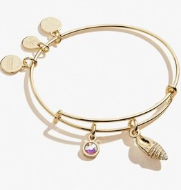 Alex and Ani Alex and Ani,Conch Shell Duo Charm, Shiny Gold