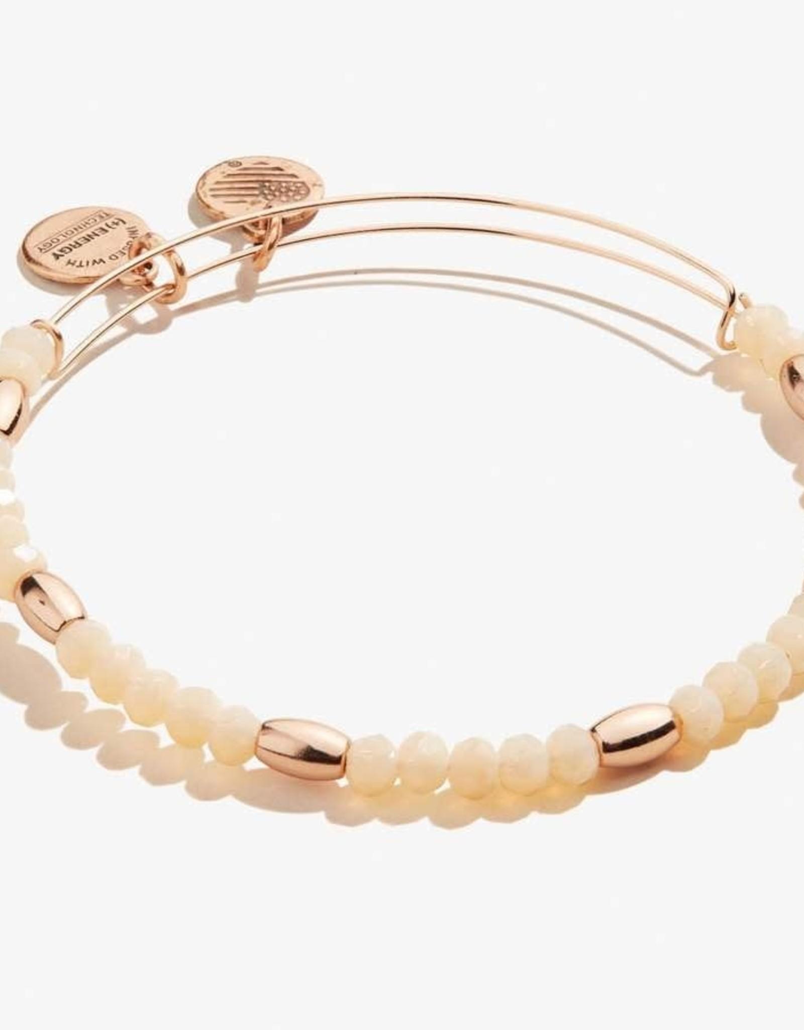 Alex and Ani Balance Bead II, Caramel, Shiny Rose Gold