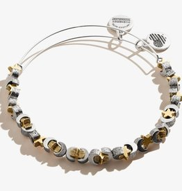 Alex and Ani Moon and Star Beaded Bangle, Two Tone FINAL SALE