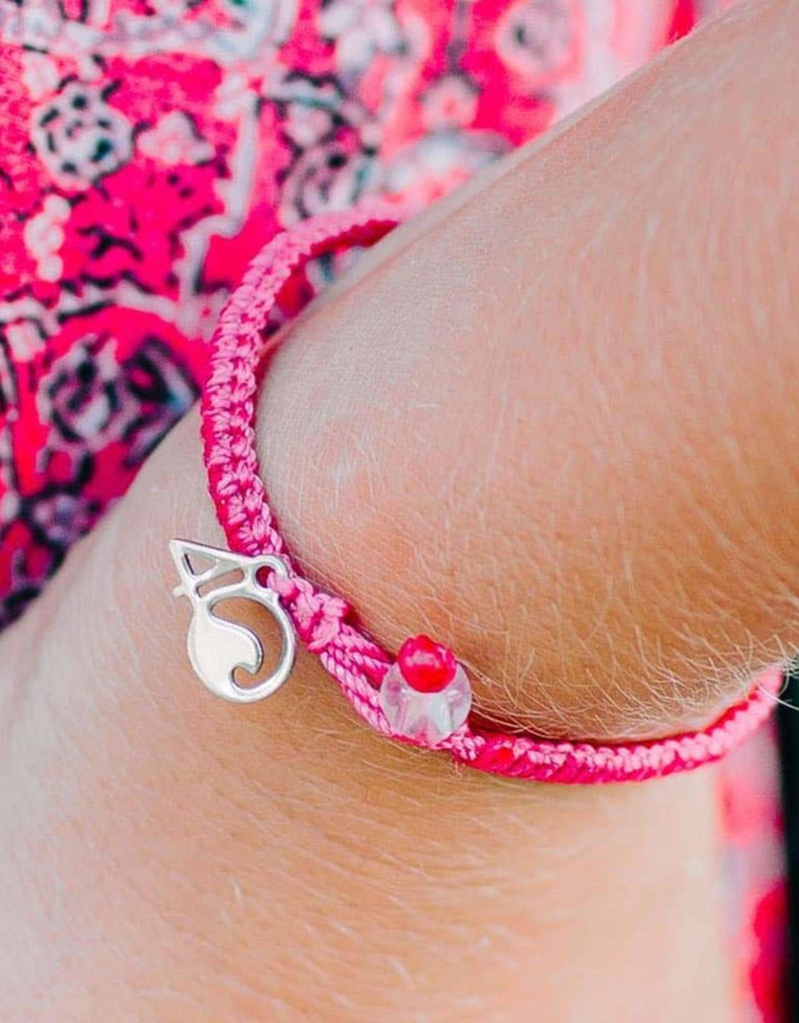 4Ocean 4Ocean, Braided, Pink Flamingo Medium