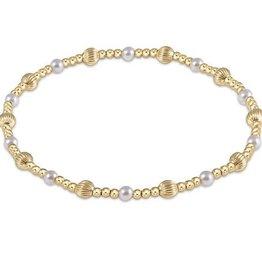 ENEWTON ENEWTON, Dignity Sincerity Pattern, 4mm Bead Bracelet - Pearl