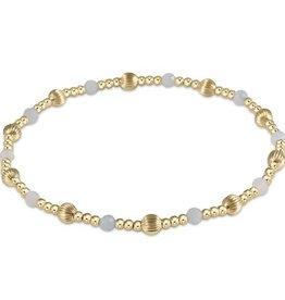 ENEWTON ENEWTON, Dignity Sincerity Pattern, 4mm Bead Bracelet, Aquamarine