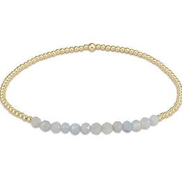 ENEWTON ENEWTON, Gold Bliss 2mm Bead Bracelet, Aquamarine
