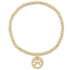 ENEWTON ENEWTON, Classic Gold, 3mm Bead Bracelet , Paw Print