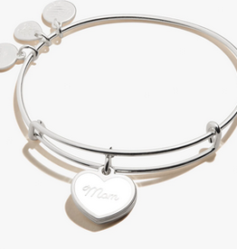 Alex and Ani Love You Unconditionally Mom, Shiny Silver