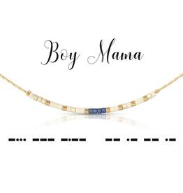 Dot & Dash Dot & Dash, Boy Mama Necklace