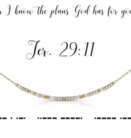 Dot & Dash Dot & Dash, Jer. 29:11 Necklace