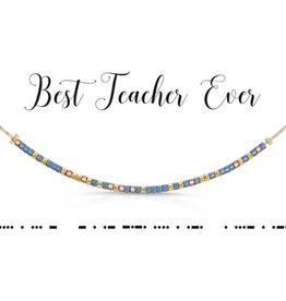 Dot & Dash Dot & Dash, Best Teacher Ever Necklace