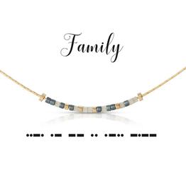 Dot & Dash Dot & Dash, Family Necklace