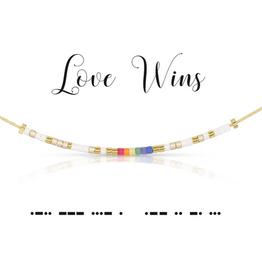Dot & Dash Dot & Dash, Love Wins Necklace