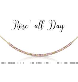 Dot & Dash Dot & Dash, Rose All Day Necklace