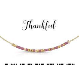 Dot & Dash Dot & Dash, Thankful Necklace