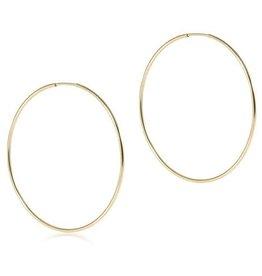 "ENEWTON ENEWTON Earring, Endless Gold 2"" Hoop"