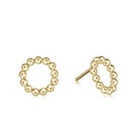 ENEWTON ENEWTON Earring, Classic Beaded Halo Stud- 2mm Bead Gold