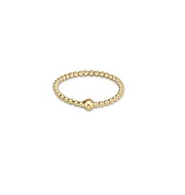 ENEWTON ENEWTON, Classic Gold 1mm Bead Halo Ring
