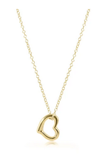 "ENEWTON ENEWTON, 16"" Necklace Gold - Love Gold Charm"