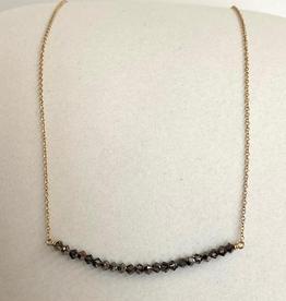 "ENEWTON .ENEWTON, 16"" Crystal Bliss Black Diamond Necklace"