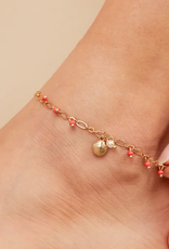 Alex and Ani Alex and Ani, Seashell Anklet, Shiny Gold