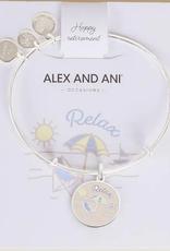 Alex and Ani Alex and Ani, Happy Retirement, Shiny Silver