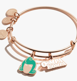 Alex and Ani Willy Wonka, Oompa Loompa Duo Charm, Rose Gold
