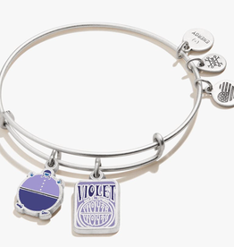 Alex and Ani Willy Wonka, Violet Duo Charm, RS