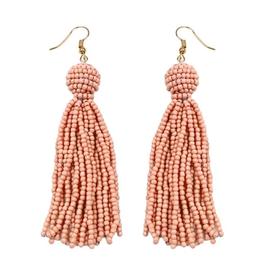 What's Hot Serendipity Earrings, Peach Beaded Tassel
