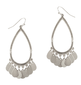 """What's Hot Serendipity Earrings, Silver Teardrop With Coin Accents 2"""""""
