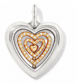 Brighton Brighton, Heartbeat Amulet - Silver-Gold