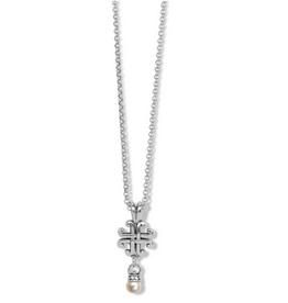 Brighton Brighton, Taos Pearl Cross Mini Necklace