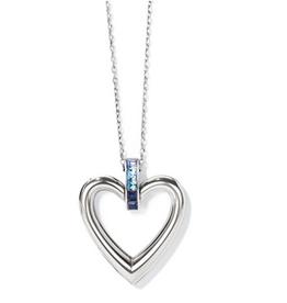 Brighton Brighton, Spectrum Open Heart Necklace, Blue