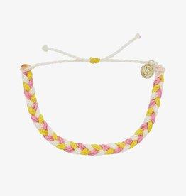 PuraVida Pura Vida, Multi Braided Bracelet, Strawberry Lemonade